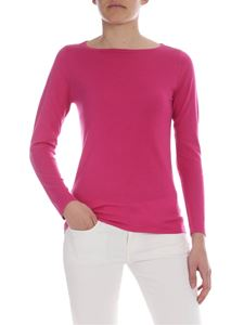 Kangra Cashmere - Cyclamen color silk and cashmere sweater