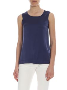Kangra Cashmere - Kangra top in blue silk