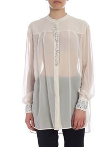 Ermanno by Ermanno Scervino - Ivory color shirt with embroidered beads