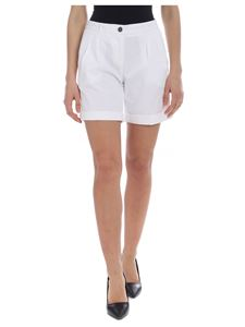 Fay - Fay shorts in white with pleats