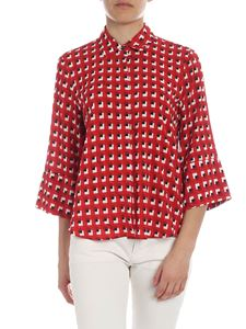 L'Autre Chose - Red shirt with checked pattern