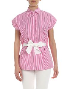 Ballantyne - Pink and white striped blouse