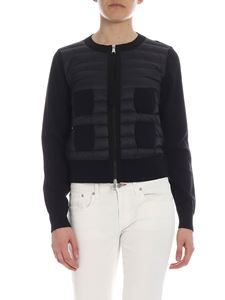 Moncler - Black Moncler cardigan with down insert