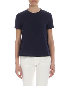 Moncler - Moncler t-shirt in blue with logo