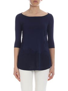 Ermanno by Ermanno Scervino - Blue viscose sweater with embroidery