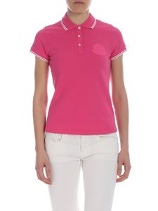 Moncler - Fuchsia Moncler polo with logo