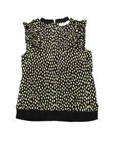 Stella McCartney Kids - Black top with yellow polka dot print