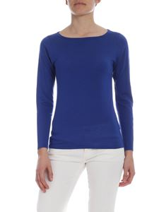 Kangra Cashmere - Blue silk and cashmere sweater