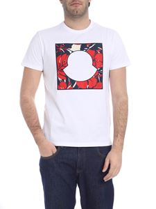 Moncler - White t-shirt with logo