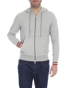 Moncler - Melange hoodie with logo stripes