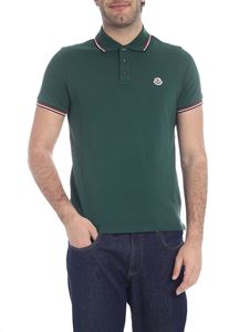 Moncler - Green polo with three buttons