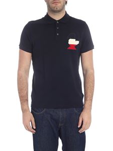 Moncler - Dark blue polo with maxi patch