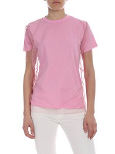 MSGM - Pink MSGM T-shirt with tulle detail