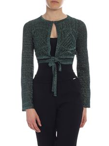 M Missoni - Dark green lamé M Missoni top