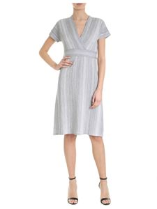 Kangra Cashmere - Grey lamé Kangra dress