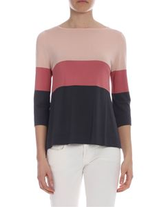 Kangra Cashmere - Pink and grey Kangra sweater