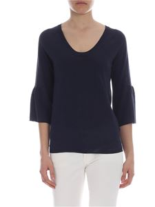 Kangra Cashmere - Dark blue Kangra knitted top