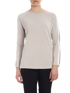 Kangra Cashmere - Sand knitted top with side bands