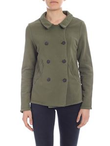 Semicouture - Army green double-breasted jacket