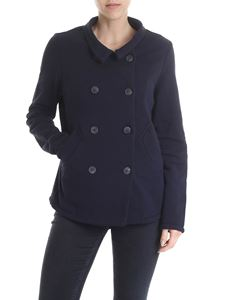 Semicouture - Dark blue double-breasted jacket