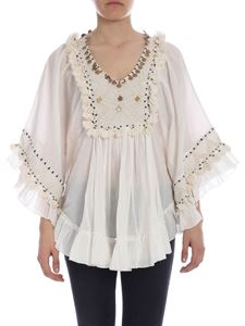 Mes Demoiselles - Wide embroidered Bachata blouse