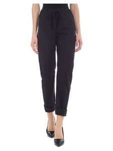 Semicouture - Black trousers with contrasting stitching