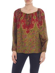 Mes Demoiselles - Dolores green and burgundy blouse