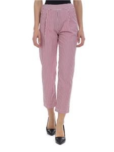 Semicouture - Red and white striped trousers