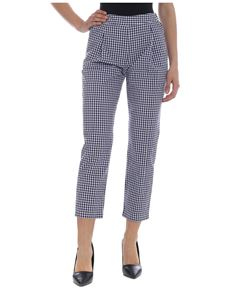 Semicouture - Blue and white check pants