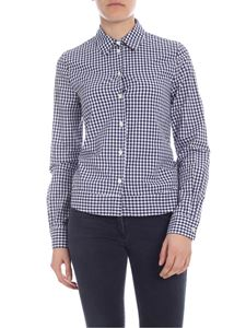 Semicouture - White and blue check shirt