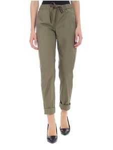 Semicouture - Green trousers with visible stitching