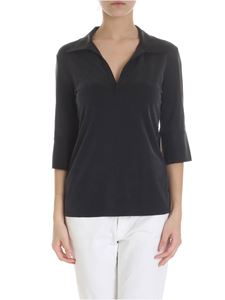 MM6 by Maison Martin Margiela - Stretch cupro blouse in black