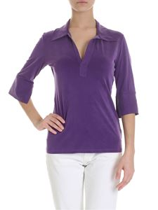 MM6 by Maison Martin Margiela - Stretch cupro blouse in purple