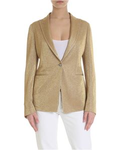 Tagliatore - One-button lamè Gilda jacket