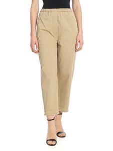 Tela - Rivoli pants in beige stretch cotton