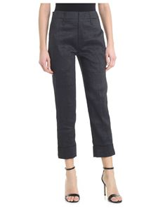 Tela - Remo trousers in black linen blend