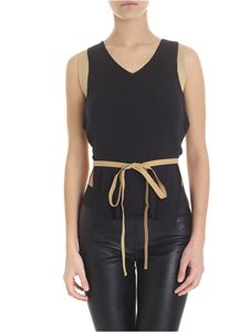 MM6 by Maison Martin Margiela - Ribbed sleeveless top in black