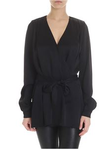Forte Forte - Black viscose wrap cardigan