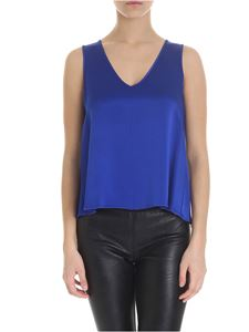 Forte Forte - Bright blue top with V-neck