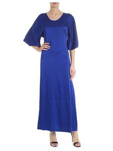 Forte Forte - Electric blue long dress with flared sleeves
