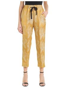 Forte Forte - Golden trousers with floral embroideries