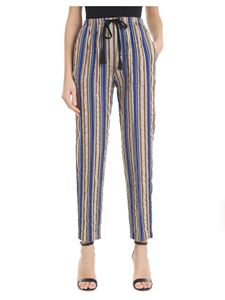 Forte Forte - Striped trousers with laminated details