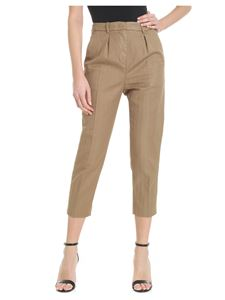 Dondup - Carlie beige trousers with pleats
