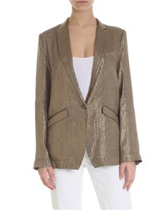 Forte Forte - Golden lamè single-breasted jacket