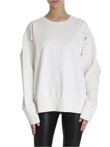 MM6 by Maison Martin Margiela - White sweatshirt with cut out