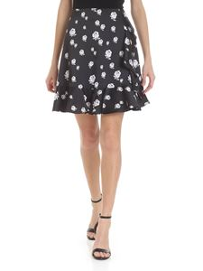 Kenzo - Black skirt with flower pattern