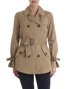 Bazar Deluxe - Double-breasted trench in dark beige