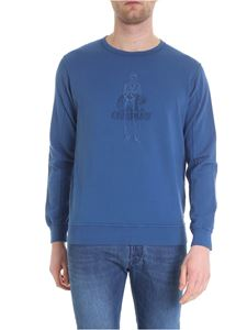 CP Company - T-shirt in light blue cotton