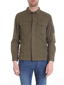 CP Company - Pure cotton shirt in army green