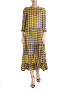 Baum Und Pferdgarten - Long dress checked in yellow and blue